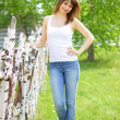Beautiful girl and birch — Stock Photo #3168939