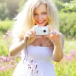 Beautiful girl photographs — Stock Photo