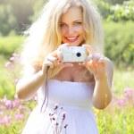 Beautiful girl photographs — Stock Photo