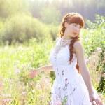 Beautiful girl in a dress — Stock Photo #3606727