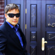 Man in black glasses — Stockfoto