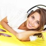 Girl Listening to Music — Stock Photo #3661177
