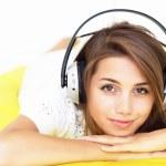 Girl listen music — Stock Photo #3661208