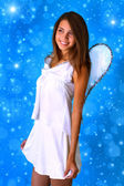 Girl dressed as an angel — Stock Photo