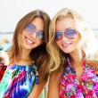 Two beautiful girls out shopping — Stock Photo #3731543