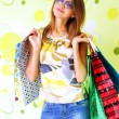 Beautiful girl with shopping bags — Stock Photo #3731564