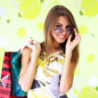 Beautiful girl with shopping bags — Stock Photo #3735880