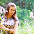 An attractive girl on the nature — Lizenzfreies Foto