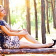 An attractive girl on the nature — Stock Photo #3748459