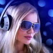 Girl with headphones — Stockfoto #3789074