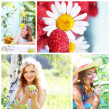 Collage on theme of the summer — Stock Photo #3798336