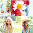 collage auf thema des sommers — Stockfoto