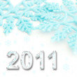 2011 on a white background — Stok fotoğraf