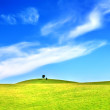 Hills and blue sky — Stock Photo