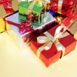 Several multi-colored gift boxes — Stok fotoğraf
