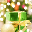 Gift Box on the background lights — Stock Photo
