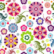 Seamless floral vivid pattern — Vector de stock #2694524