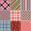 Set Seamless Patterns - Stockvectorbeeld