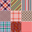 Set Seamless Patterns - Vettoriali Stock 