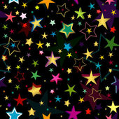 Black seamless pattern with stars — Stock Vector