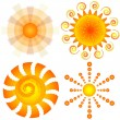 Set decorative suns (vector) — Stock Vector #2923010