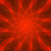 抽象的な鮮やかな赤い背景 — ストックベクタ