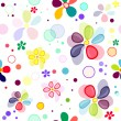 Seamless floral vivid pattern — Stockvectorbeeld