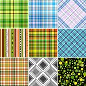 Set colorful seamless patterns — Stock Vector