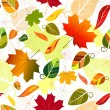 Floral seamless autumn pattern — Stock Vector