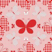 Red seamless pattern — Stock Vector