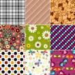 Collection seamless patterns — Stock Vector