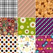 Collection seamless patterns — Stock Vector #3039526