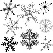 Collection handwork of snowflakes — Stock Vector #3050101