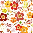 Vivid seamless floral pattern — Stock Vector