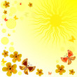 Abstract yellow spring background — Stock Vector #3054894