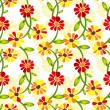 Seamless floral vivid pattern — Vector de stock #3056675