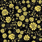 Seamless floral dark pattern — Stock Vector