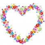 Decorative valentine floral frame — Stock Vector