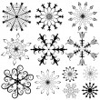 Collection of snowflakes — Stock Vector