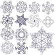 Collection  new snowflakes — Stock Vector