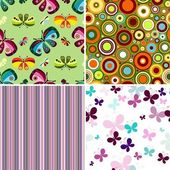 Set seamless patterns — Stock Vector