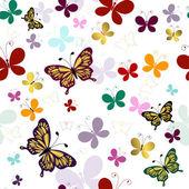 Patrones sin fisuras con mariposas — Vector de stock