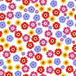 Seamless floral vivid pattern — Stock Vector