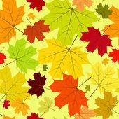 Floral seamless autumn pattern — Stock Vector