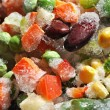 Stock Photo: The frozen vegetables