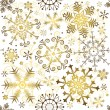 Seamless white christmas pattern - Stock Vector