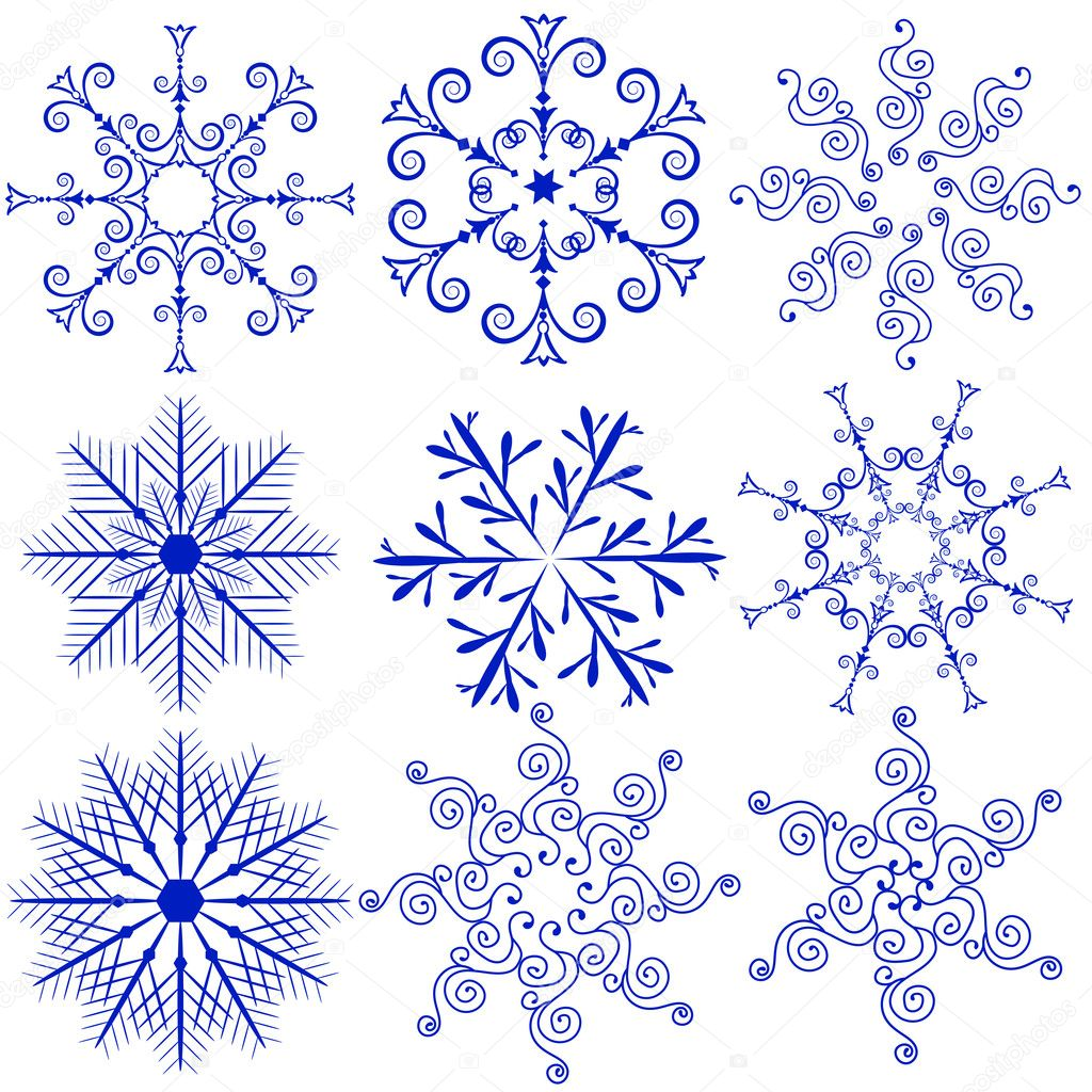 Snowflake outline vector