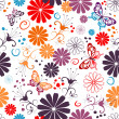 Seamless floral white pattern — Stock Vector #3536013