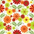 Seamless floral white pattern — Stock Vector #3556927
