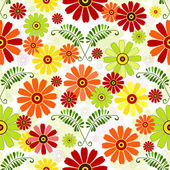 Naadloze wit bloemmotief — Stockvector
